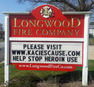 The Longwood Fire Company will be the site of a community meeting on May 4 at 10 a.m. to raise awareness about the dangers of heroin.