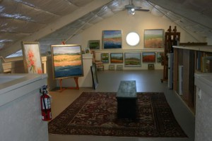Carol Lesher new studio space Kennett